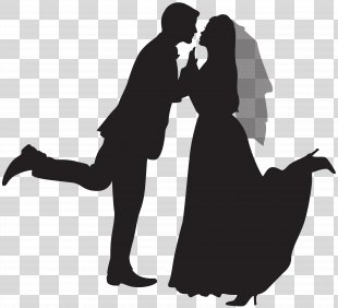 Wedding Invitation Marriage Clip Art - Silhouette Wedding Couple Clip Art PNG