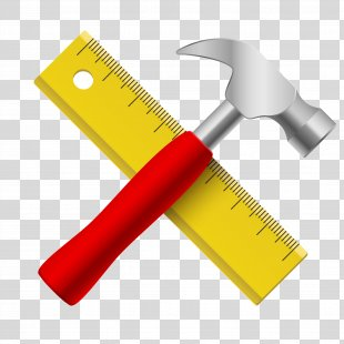 Hammer Ruler Icon - Ruler And Hammer PNG