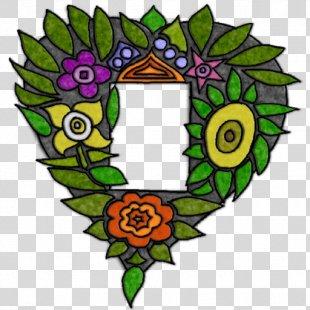 Floral Design Wreath Leaf Clip Art - Floral Heart Border PNG