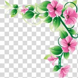 Clip Art Flower Picture Frames Image - Clip Art Flowers Border PNG