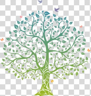 Tree Of Life Drawing - Tree, Birds PNG