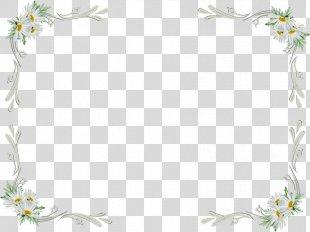 White Flowers Frame Clip Art - White Flower PNG