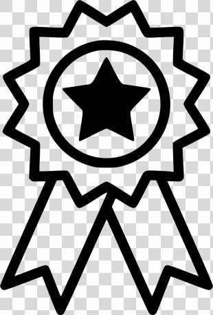 Clip Art Illustration - Gold Star Award Icon PNG