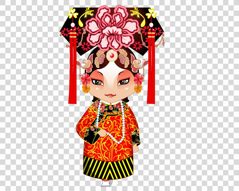 China Cartoon Qinger The Generals Of The Yang Family Peking Opera, Opera Characters PNG