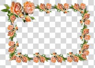 Floral Design Picture Frames Clip Art Borders And Frames Image - Flower PNG
