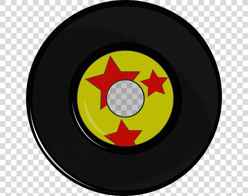 Phonograph Record Compact Disc Clip Art, Vintage Red PNG