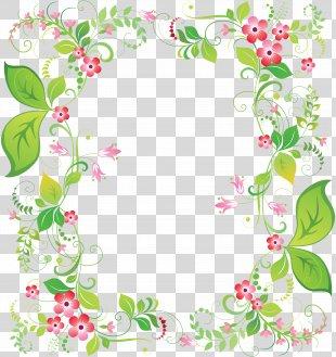 Picture Frames Flower Clip Art - Flower Frame PNG