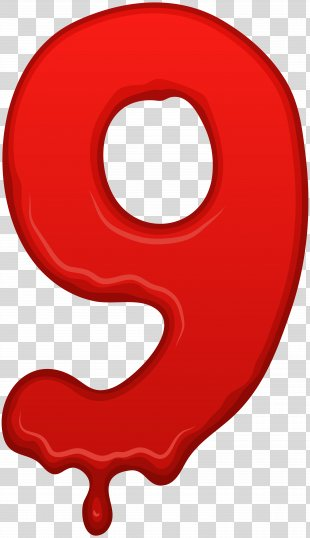 Clip Art - Bloody Number Nine Clip Art Image PNG