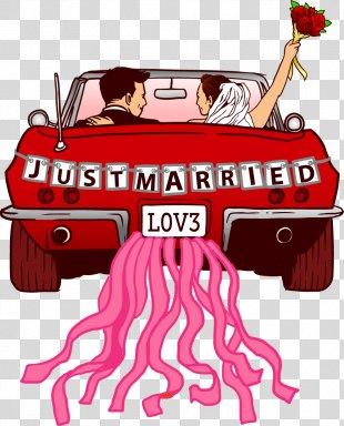 Wedding Invitation Marriage Proposal - Vector Wedding Car PNG