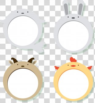 Cute Animal Decorative Frame PNG