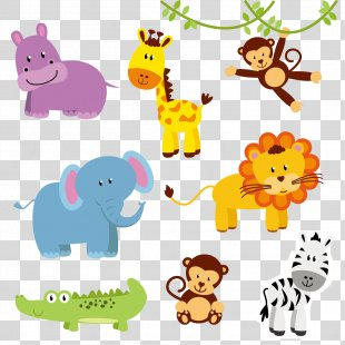 Jungle Animal Zoo Northern Giraffe Clip Art - Animal PNG