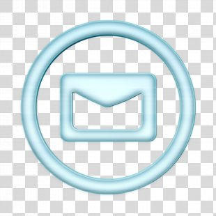 Contact Icon Email Icon Linecon Icon - Smile Neon PNG