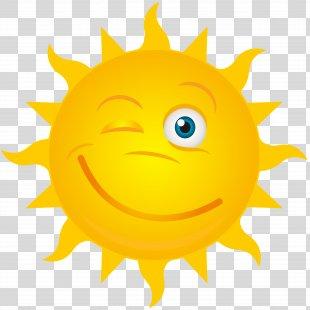Clip Art - Winking Sun Transparent Clip Art Image PNG