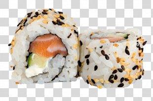 Sushi Sashimi California Roll Japanese Cuisine Gimbap - Sushi Roll PNG