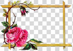 Picture Frames Flower Art Clip Art - Flower Frame PNG