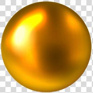 Gold Clip Art - Gold Ball Free Clip Art Image PNG