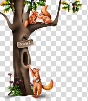 Tree Hollow Tree Squirrels - Tree PNG