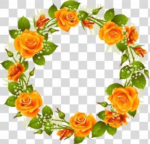 Rose Picture Frames Flower Clip Art - Flower Wreath PNG