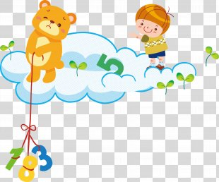 Learning Child Poster Illustration - Child Learning Poster PNG