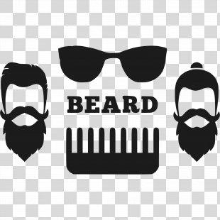 Vintage Clothing Logo Hipster Beard - Vintage PNG