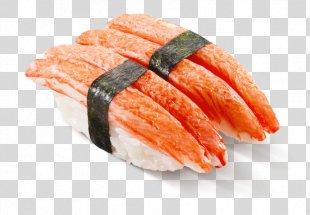 Onigiri California Roll Smoked Salmon Sashimi Sushi - Sushi PNG