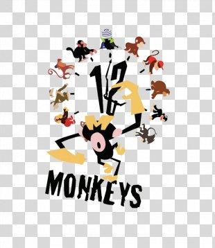 Cynicism Humour Illustrator Poster Illustration - Simple Monkey Clock Illustration PNG