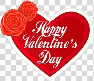 Valentine's Day Heart Gift Clip Art - Happy Valentine's Day Heart PNG Clip Art PNG