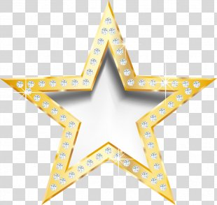 Star Diamond JPEG Network Graphics - Gold Diamond Trim Perspective Stars PNG