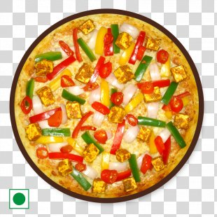 California-style Pizza Sicilian Pizza Vegetarian Cuisine Paneer Tikka - Pizza PNG