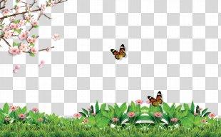 Poster Illustration - Spring Poster Background Effect PNG