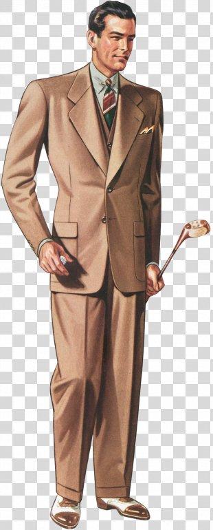 Vintage Clothing Fashion Suit - Vintage PNG