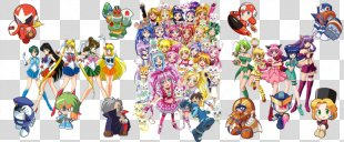 Pretty Cure All Stars Mega Man Powered Up Art Crossover - Pretty Cure Dream Stars PNG