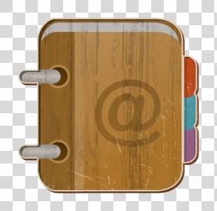Contact Icon - Yellow Brown PNG