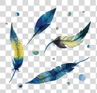 Paper Watercolor Painting Feather Drawing - Feather PNG
