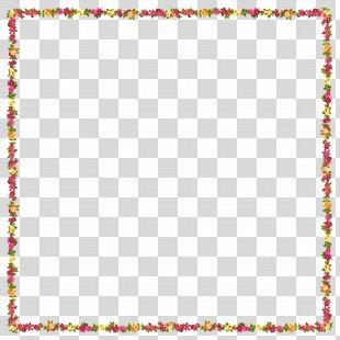 Picture Frames Flower Clip Art - Pink Flower Border PNG
