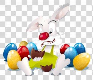Easter Bunny Happy Easter! Easter Egg Easter Postcard - Easter PNG