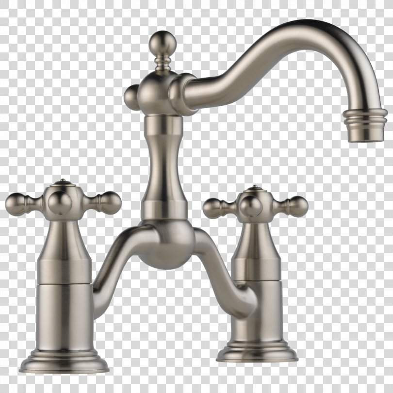 Tap Bathroom Bathtub Sink Brushed Metal, Faucet PNG