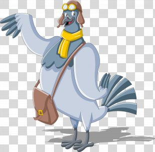 Homing Pigeon Mail Carrier Cartoon Clip Art - Pigeon PNG