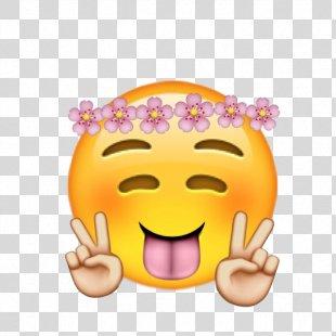 Emoji Wreath Crown Flower Sticker - Emoji PNG