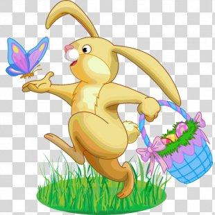 Easter Bunny Easter Cake Easter Basket Clip Art - Easter PNG
