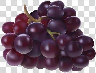 Juice Grape Fruit Clip Art - Grapes Transparent Image PNG