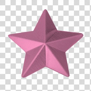 Gold Star Polygons In Art And Culture Merit Badge - Pink Star PNG