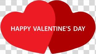 Happy Valentine's Day Heart Gift Red Velvet Cake - Happy Valentine's Day Hearts PNG Clip Art PNG