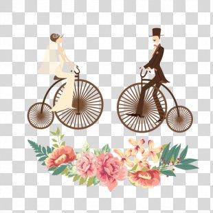 Wedding Invitation Bridegroom Illustration - Biker Bride And Groom PNG