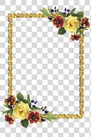 Paper Picture Frames Flower - Flower Frame PNG