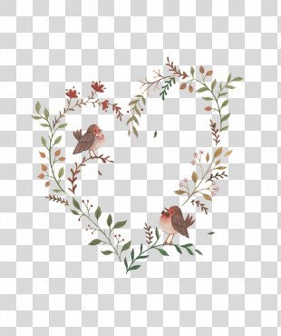 Drawing Illustrator Art Watercolor Painting Illustration - Heart-shaped Flower Vine PNG