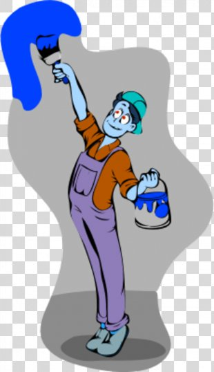 Painting House Painter And Decorator Paintbrush Clip Art - Paintbrush Picture PNG