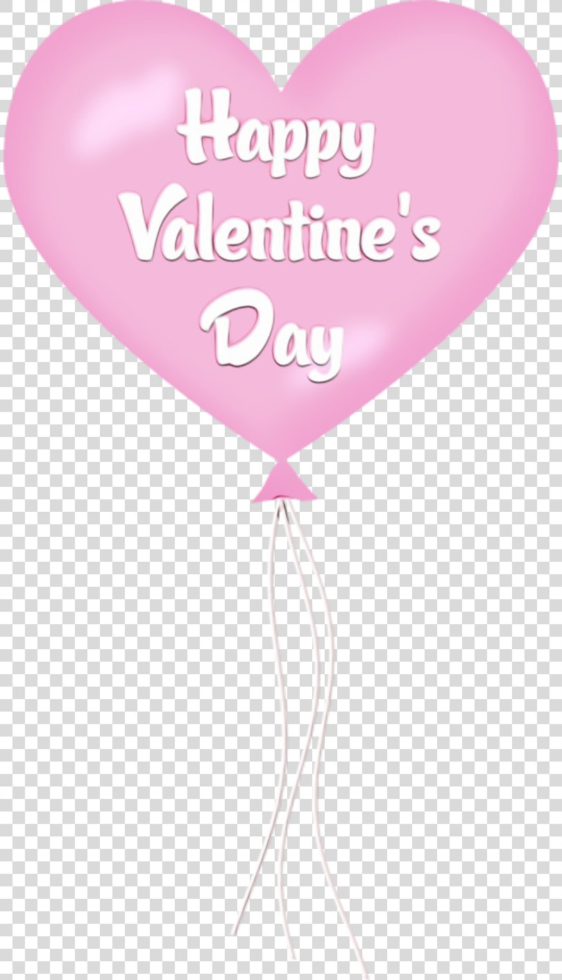 Happy Valentines Day, Magenta Party Supply PNG