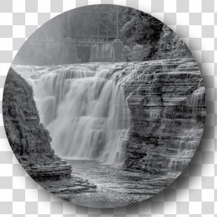 Upper Falls Letchworth State Park Genesee River Waterfall Stock Photography - Waterfall PNG
