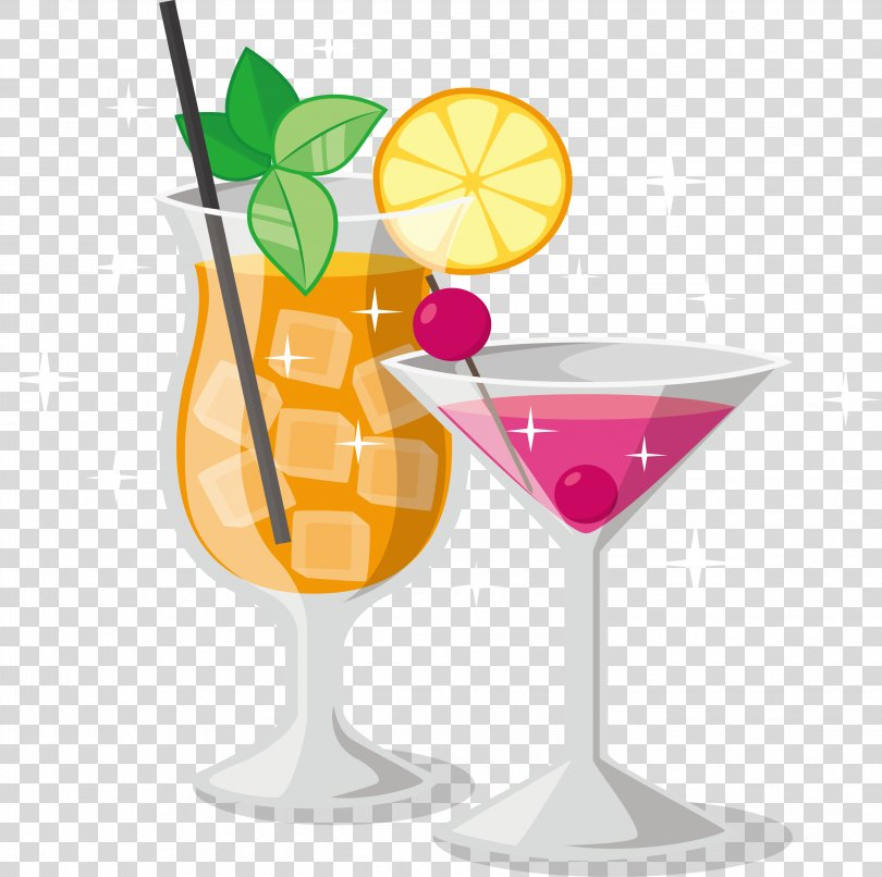 Martini Wine Cocktail Mai Tai Cosmopolitan, Beach Party Cocktail PNG